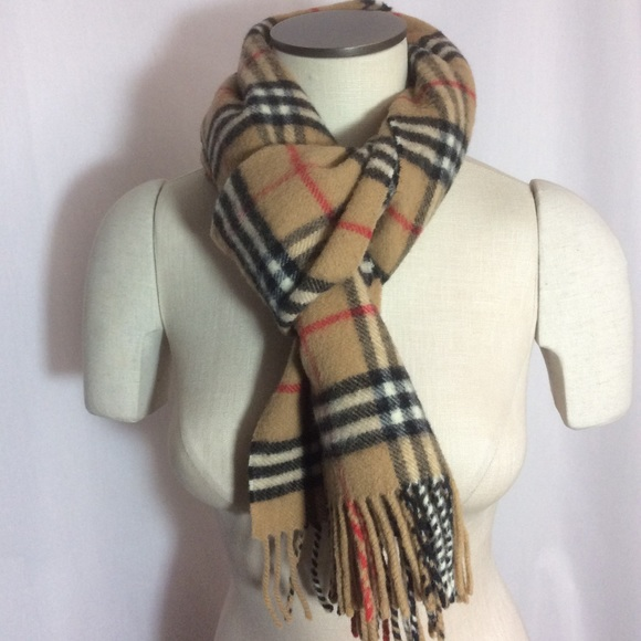 Burberry Accessories   Vintage S Unisex Lambswool Scarf Camel   Poshmark 46442bc3587